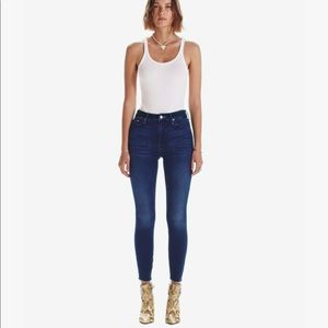 NEW mother high waisted ankle fray jeans 34